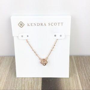 Kendra Scott Rue rose gold necklace